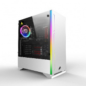 1STPLAYER BLACK.SIR B6 WHITE / ATX, tempered glass side panel / 1x 120mm LED fan inc. / B6W-1R1