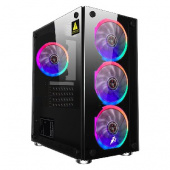 1STPLAYER FIREBASE X2 / mATX, tempered glass side panels / 4x 120mm LED fans inc. / X2-4R1