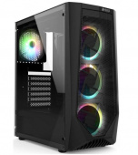 HIPER GAME ORO-4RGB (w/o PSU, USB+HD audio, 1*RGB rear fan, 3*RGB front fan) BLACK